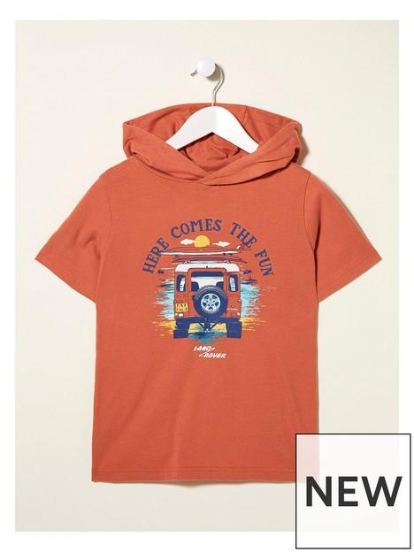 fatface-boys-landrover-hooded-tshirt-clay-orange