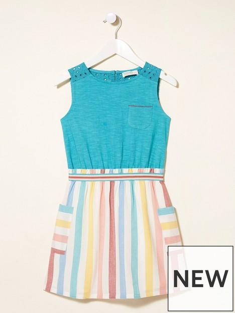 fatface-girls-myla-stripe-dress-light-aqua