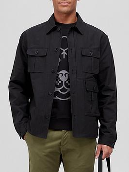 kenzo-utilitarian-overshirt-black