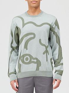 kenzo-k-tiger-knitted-jumper-sage-green