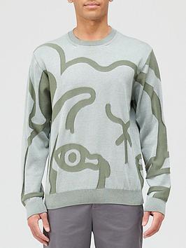 Kenzo K-Tiger Knitted Jumper - Sage Green