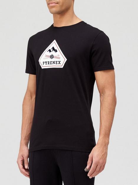 pyrenex-karel-large-logo-t-shirt-black