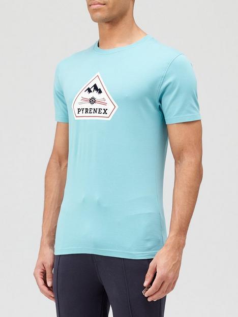 pyrenex-karel-large-logo-t-shirt-bluenbsp