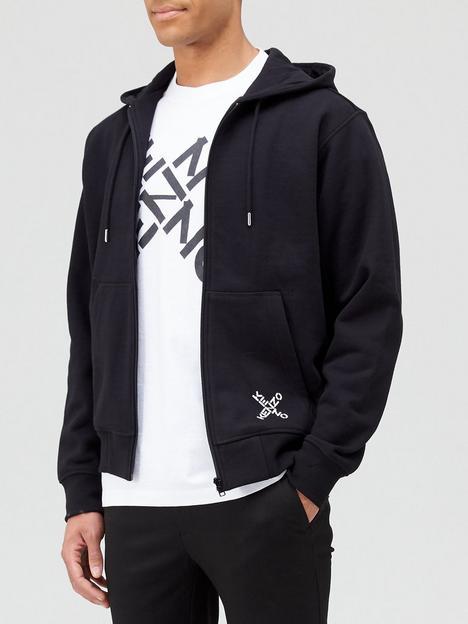 kenzo-sport-zip-thru-hoodie-black