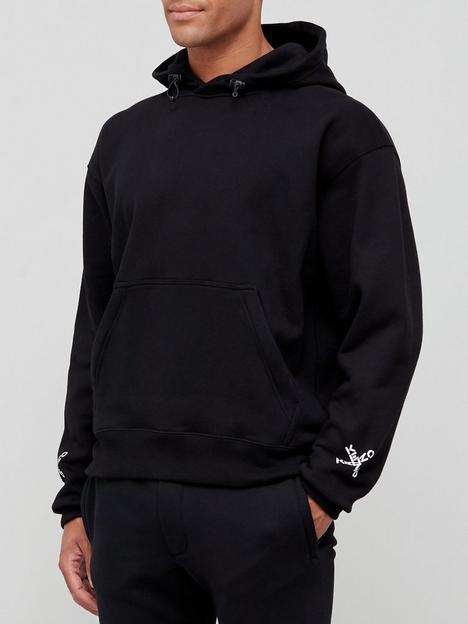 kenzo-sport-oversize-overhead-hoodie-black