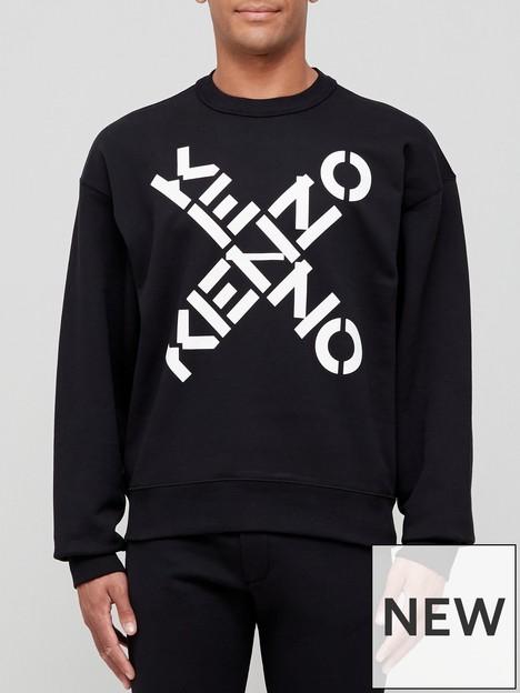 kenzo-sport-oversize-sweatshirt-black