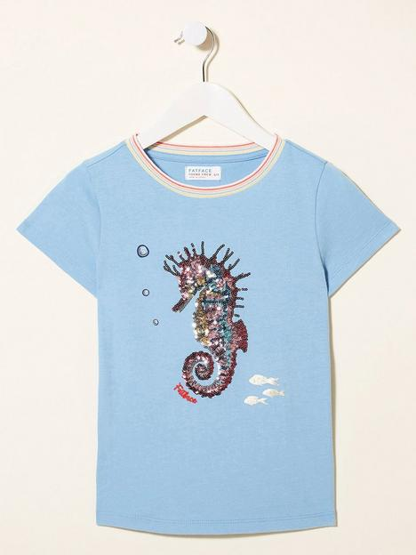 fatface-girls-seahorse-sequin-t-shirt-surf-blue