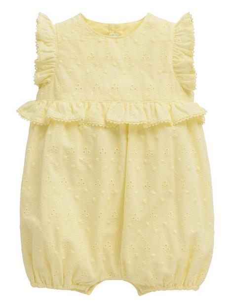 mamas-papas-baby-girls-broderie-romper-yellow
