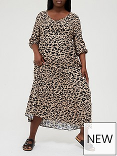 v-by-very-curve-v-neck-tiered-maxi-dress-multi