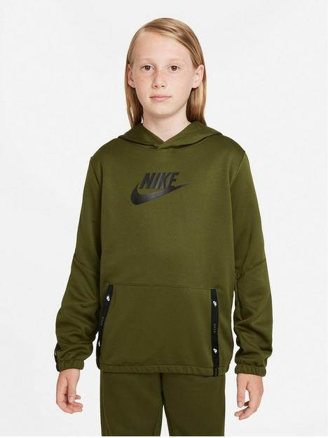 nike-nswnbspunisexnbsppullover-hoodie-tracksuit-set-greenblacknbsp