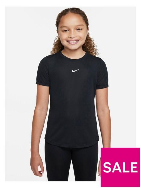 nike-girls-nike-dri-fit-one-short-sleeve-top-black