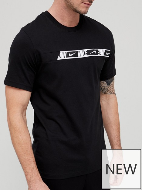 nike-repeat-chest-tape-t-shirt-blackwhite