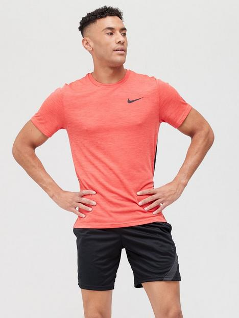 nike-train-hyper-dry-veneer-t-shirt-redblack