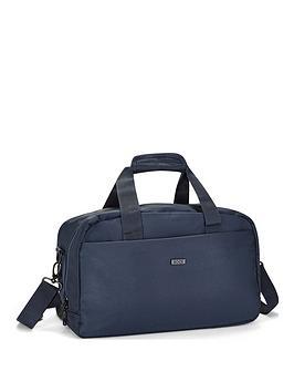 Rock Luggage Platinum Navy Underseat Holdall