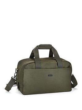 Rock Luggage Platinum Olive Green Underseat Holdall