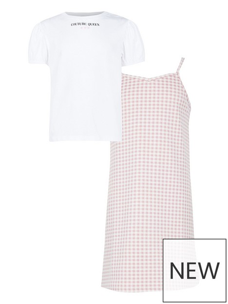 river-island-girls-pink-check-dress-outfit
