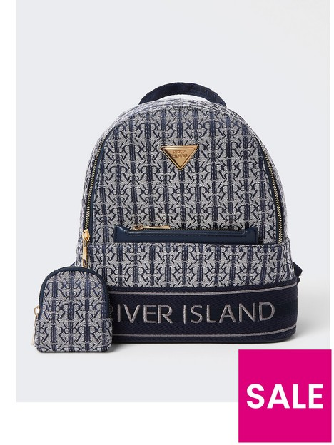 river-island-girls-navy-rir-jacquard-backpack