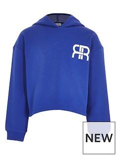 river-island-girls-cropped-logo-hoodie-blue