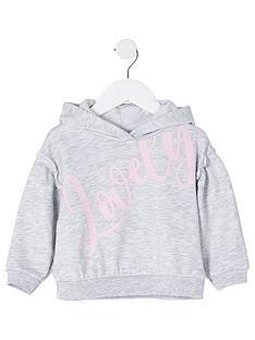 river-island-mini-mini-girls-lovely-hoodie-grey