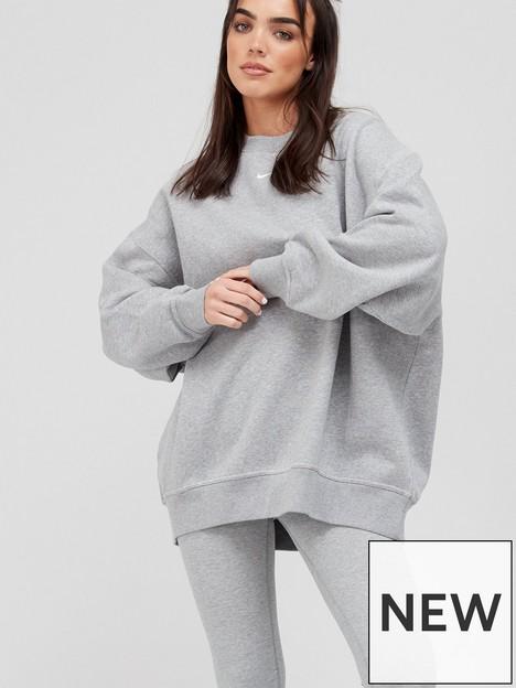 nike-nswnbspessential-trend-sweatshirt-dark-grey-heathernbsp