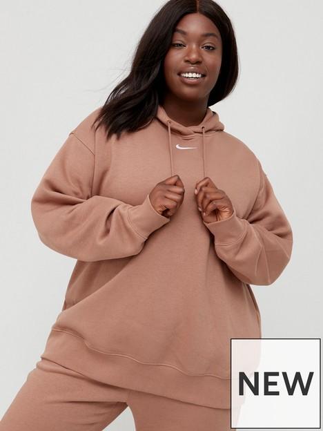 nike-nswnbspessential-trend-pullovernbsphoodie-curvenbsp--brown