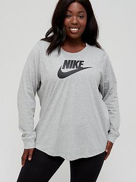 nike-nsw-essential-icon-futura-long-sleeve-top-curve-dark-grey-heather