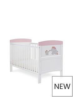 obaby-grace-inspire-cot-bed-me-amp-mini-me-elephants-pink