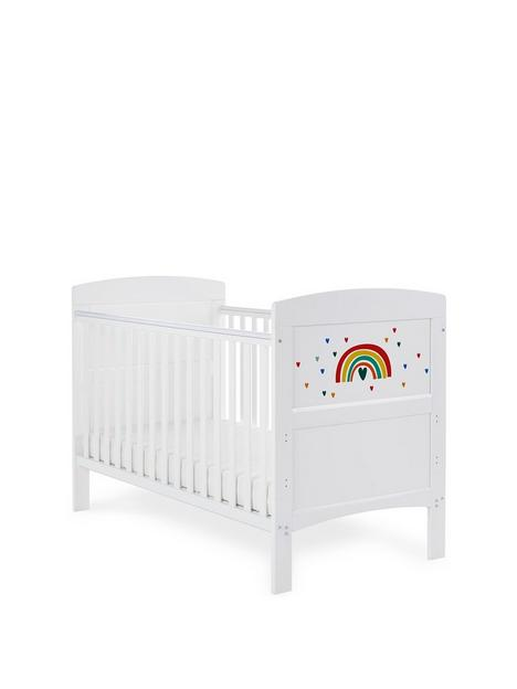 obaby-grace-inspire-cot-bed-rainbow-multicolour