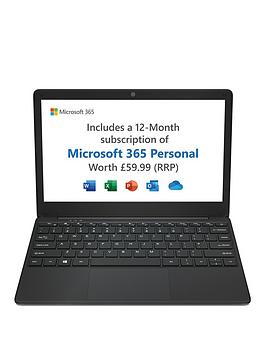 Geo Geobook 110 Laptop - 11.6In Hd, Intel Celeron Dual Core, 4Gb Ram, 64Gb Storage, Microsoft 365 Personal Included (1 Year) + Optional Norton 360 (1 Year) - Laptop Only