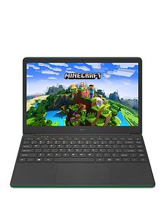 geo-geobook-140-minecraft-intel-celeron-4gb-ram-64gb-storage-14in-hd-laptop-with-microsoft-365-personal-included-and-optional-norton-360-green