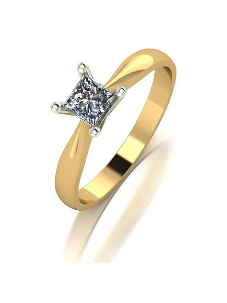 moissanite-9ct-gold-040ct-equivalent-square-brilliant-solitaire-ring