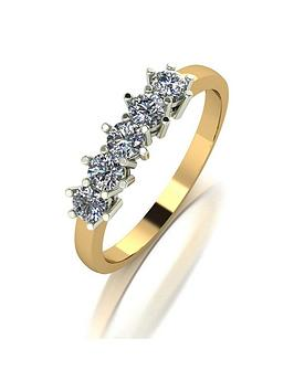 moissanite-9ct-gold-050ct-total-five-stone-eternity-ring