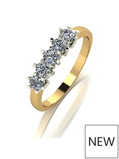 moissanite-moissanite-9ct-gold-050ct-total-five-stone-eternity-ring