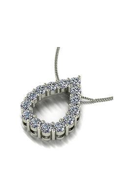moissanite-9ct-white-gold-100ct-total-pear-pendant