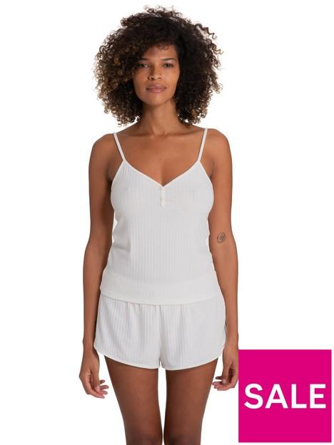 dorina-silence-ribbed-pyjama-cami-and-shorts-set-ivory
