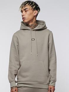 criminal-damage-eco-pullover-hoodie-stone