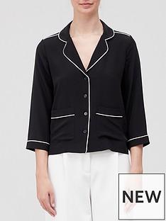 equipment-silk-pyjama-style-blouse-black
