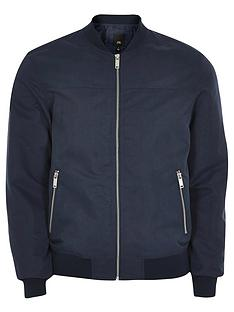 river-island-big-and-tall-bomber-jacket-navy