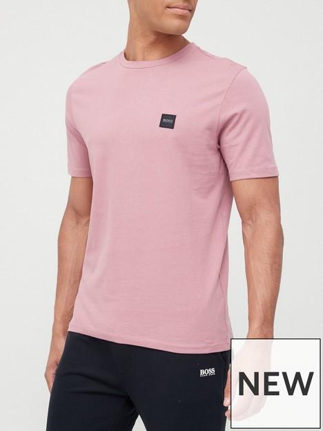 boss-tales-chest-logo-t-shirt-pink