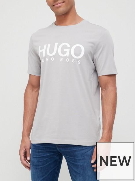 hugo-doliver-large-logo-t-shirt-grey