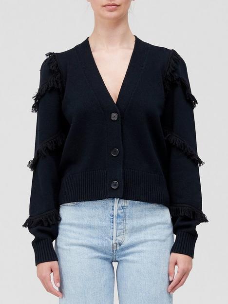 joie-yves-tassel-detail-cardigan-black