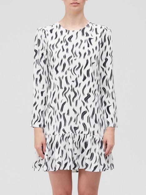joie-noto-printed-mini-dress-white