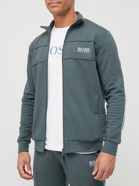 boss-ts-lounge-zip-thru-jacket-army-green