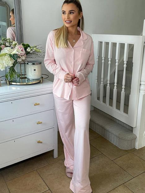 in-the-style-in-the-style-x-billie-faiersnbspsoft-touch-long-sleeve-top-andnbsptrouser-pyjamas-blushnbsp