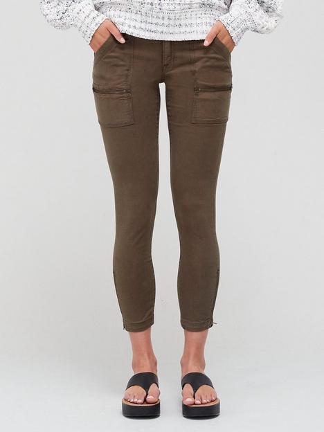 joie-paris-zip-detail-skinny-trousers-green