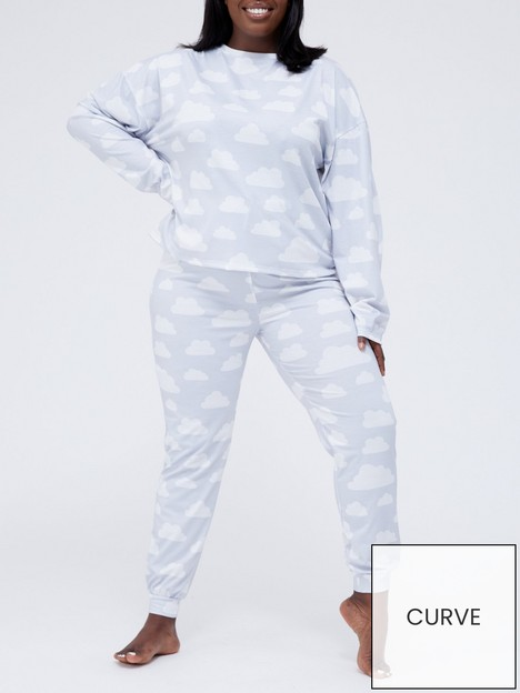 in-the-style-curve-in-the-style-curve-xnbspbillie-faiersnbspcloud-long-sleeve-top-and-bottoms-pyjamas-grey