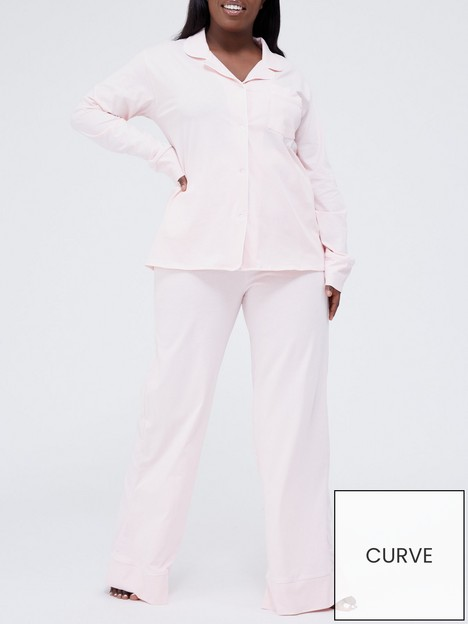 in-the-style-curve-in-the-style-curve-xnbspbillie-faiersnbspsoft-touch-long-sleeve-top-and-wide-leg-trouser-pyjamas-blush