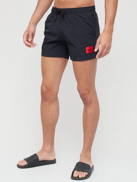 hugo-red-patch-logo-dominica-swim-shorts-black