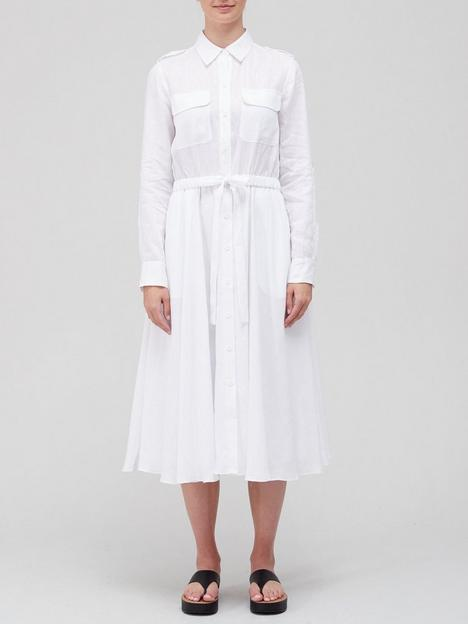 equipment-jacqout-linen-midi-dress-white