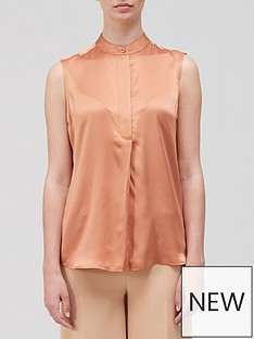 equipment-therese-sleeveless-blouse-orange